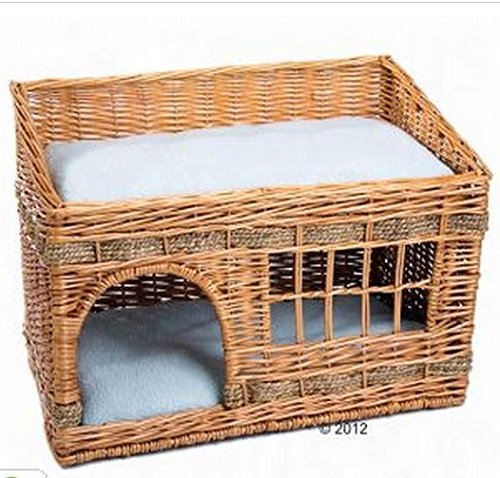 Woven 2 Floor Indoor Cat Den. This Home For Your Cats Comes Complete With Two Cushions & Is The Perfect Sleeping and… 1