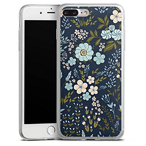 Apple iPhone 5c Slim Case Silikon Hülle Schutzhülle Herbst Blumen Muster Silikon Slim Case transparent