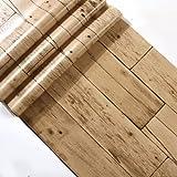 JSLCR Antica vecchia carta da parati imitazione legno carta da parati e abbigliamento retrò negozio venatura del legno carta da parati,96-8073
