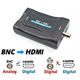 #9: BNC to HDMI Video Converter - Female BNC HDMI Connector Audio Composite Adapter Component Box for HD TV Monitor Security Camera CCTV DVRs w/ 720 1080P Output HDCP Deep ColorBNC to HDMI USB Power