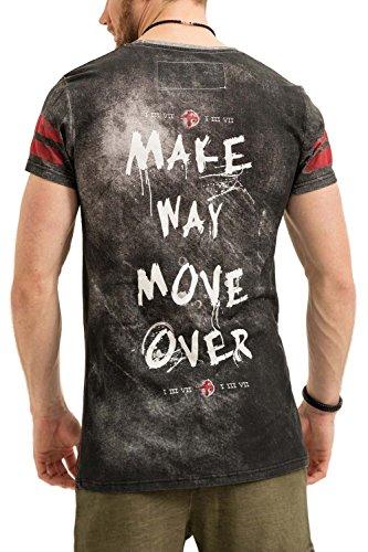 trueprodigy Casual Herren Marken T-Shirt mit Aufdruck, Oberteil cool und stylisch mit Rundhals (kurzarm & Slim Fit), Shirt für Männer bedruckt Farbe: Schwarz 1073123-2999 Black