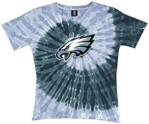 T-shirt femme Ladies: NFL-Eagles Spiral V L - Teinture