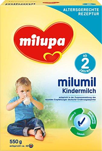Milupa Milumil Kindermilch 2+ ab 2 Jahren, 4er Pack (4 x 550 g)