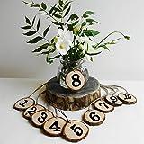 Ocamo Holz Anzahl 1–10Aufhängen Tisch Karten Empfang Sitz Karte Anhänger Tischkarten für Hochzeit Party Dekoration 100/Set