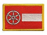 Flaggen Aufnäher Deutschland Stadt Erfurt Fahne Patch +