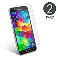Samsung S5 screen protector, aiMaKE Samsung Galaxy S5 neo screen protector Samsung Galaxy S5 Tempered glass screen protector Transparent (0.33mm HD Ultra Clear)[Pack 2]