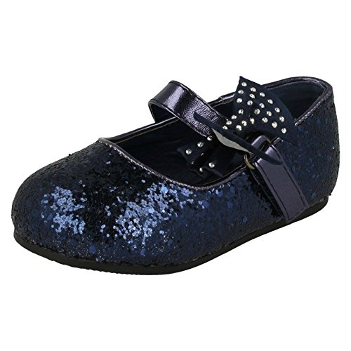 girls-spot-on-glitter-bow-detail-party-flats-h2305-navy-glitter-uk-size-7-baby-eu-size-24-us-size-8