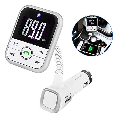 Wireless Car Kit MP3-Player FM-Transmitter mit Fernbedienung Mikrofon Unterstützung SD Karte u disk Play USB Ladegerät Bluetooth Freisprecheinrichtung Anrufe Musik Empfänger Unterstützung 3,5mm Audio-Ausgang Spielzeug-autos Und-trucks Rc-audio