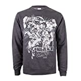 Marvel Band of Heroes, Sweat-Shirt Homme, Gris (Dark Heather Dkh), (Taille Fabricant: Small)