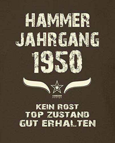 Modisches 67. Jahre Fun T-Shirt zum Männer-Geburtstag Hammer Jahrgang 1950  Ideale ...
