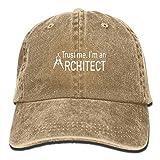 LINGVYTE Trust Me I'm an Architect Plain Adjustable Cowboy Cap Denim Hat for Women and Men