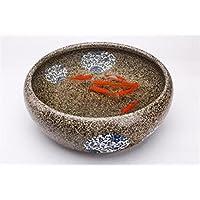 Ceramica creativa Goldfish ciotola di acqua tartaruga serbatoio Soggiorno Fish Tank Lotus Desktop Fontana Decoration , japanese b medium package 33cm