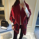 MONEYY The Korean version of national wind and classy towel Ms. autumn and winter tourist shawl 130*130 cm D