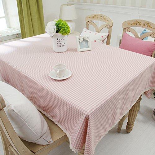 Home tischdecke,vintage tischdecke.lattice] edge spitze teetisch sauber längliche tischdecke-mehrere farben.pink-Rosa 200x140cm(79x55inch)