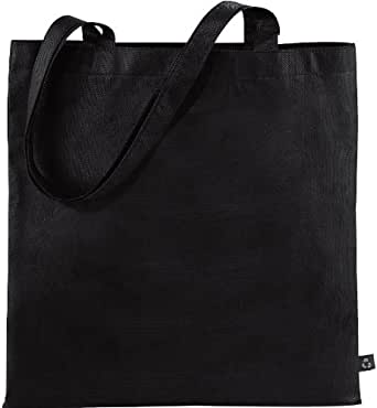 3 PACK CENTRIX NEW RECYCLED TOTE SHOPPER BAG - 10 COLOURS (BLACK)
