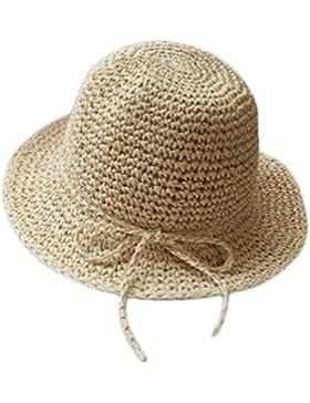 Kanggest Sombrero de Paja del Verano de los Niños Sombrero del Sol del Bowknot de los Bebés para la Decoración...