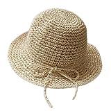 Kanggest Sombrero de Paja del Verano de los Niños Sombrero del Sol del Bowknot de los Bebés para la Decoración de la Protección Solar Bebé (Beige)