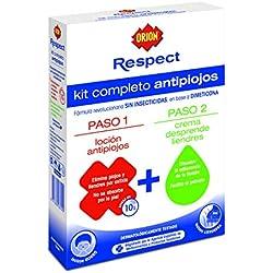 Orion - Respect - Loción antipiojos con dimeticona + Crema desprende liendres - 1 pack