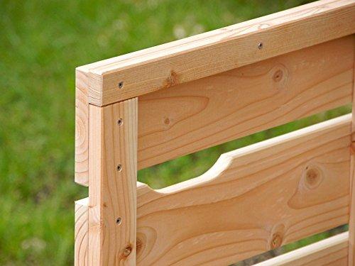 2er Mülltonnenbox / Mülltonnenverkleidung 240 L Holz, Deckend Geölt Anthrazit Grau - 5