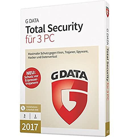G DATA Total Security 2017 Vollversion - 3 PC /