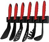 KOPF Nylon - Jeu d'ustensiles de cuisine avec support mural, 7 pièces, rouge