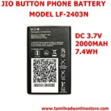 Pcs System JIO 4g Button Phone Battery Compatible Battery Suitable For Jio LF-2403N Button Type Mobile(Only BatteryOnly) Suitable For Jio LF - 2403 Button Type Mobile