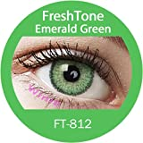 "Farbige Kontaktlinsen Monatslinsen grün hellgrün smaragdgrün ""Emerald Green"" ohne Stärke"