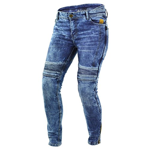 Trilobite MICAS URBAN Damen Motorrad Jeans Blau Protektoren Hose Hoch Abriebfest, 38166534, Größe 30