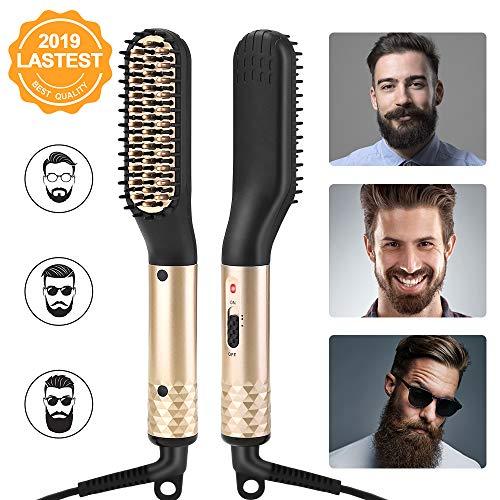 ANLAN Cepillo Alisador Barba Profesional Peine Peluquería