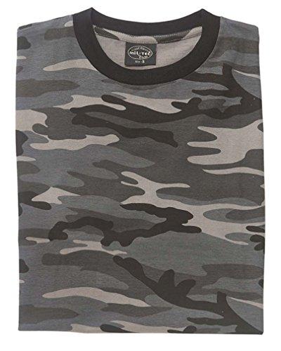 Mil-Tec Herren Nva Strichtarn T-Shirt dark camo