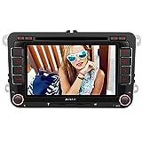 PUMPKIN 2 Din Autoradio DVD Player mit GPS Navigation 7 Zoll Touch Screen für VW Volkswagen SEAT SKODA Jetta Golf Passat Polo unterstützt Bluetooth USB SD CD CanBus Lenkradsteurung (2 Din Autoradio)