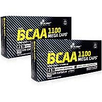 Preisvergleich für OLIMP 2 x BCAA Mega Caps Aminosäure 1100mg/Kapsel, 2 x 120 Kapseln