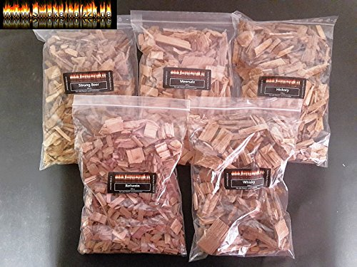BBQ Smoker Wood or Wooden Wood Chips Exotic Collection To Test