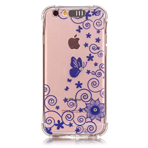 Uming® Copertura di caso della TPU colorful soft modello della stampa Case Cover ( Colorful stick love - per IPhone6SPlus IPhone 6SPlus 6Plus IPhone6Plus ) Sacchetto di caso della copertura della prot Blue lace