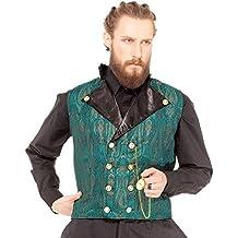 Steampunk Gothic Kostüm-Weste, viktorianischer Inspector Ebeneezer [C1349]