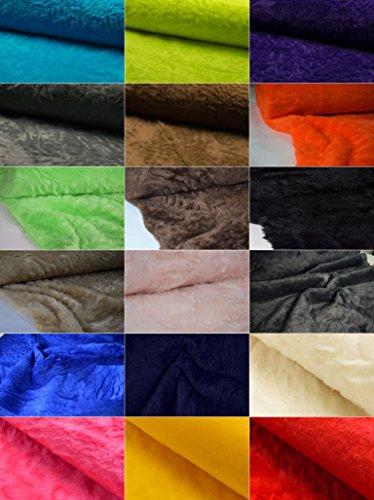 Fabrics-City CAMEL SOFTIG ZOTTY TEDDYFELL KURZHAARIG STOFF STOFFE, 4107 (Camel)