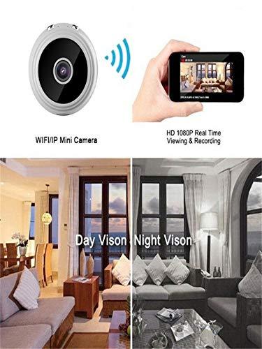 Carta di Movimento di Visione Notturna di Movimento 32G di Sicurezza di Sicurezza di WiFi della Mini Macchina Fotografica di A9 HD 1080P Mini (Bianco)