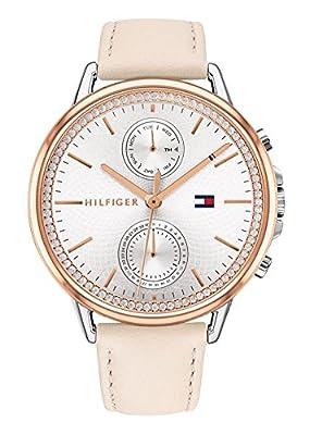Tommy Hilfiger Reloj Multiesfera para Mujer de Cuarzo con Correa en Cuero 1781913