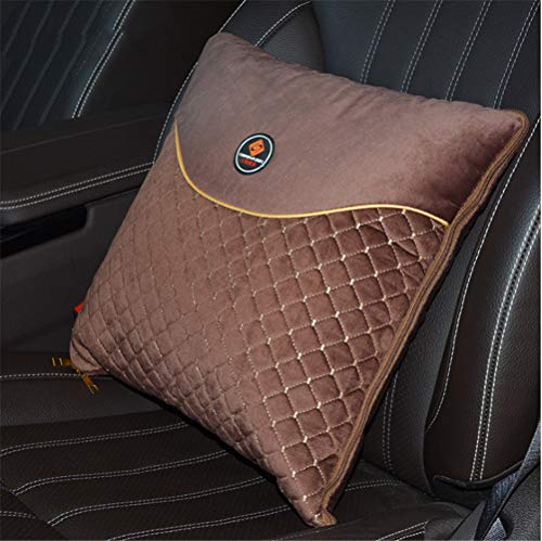 Car Pillow Quilt Dual-Use Multifunctional Car Waist By Air Conditioning By The Office Cushion Car Waist By Curry Color -