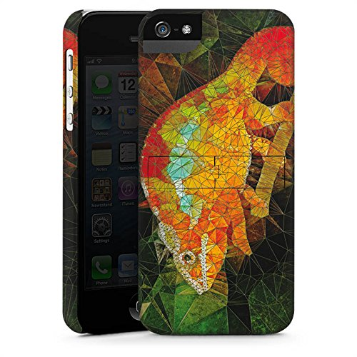 Apple iPhone X Silikon Hülle Case Schutzhülle Chamäleon Echse Muster Premium Case StandUp