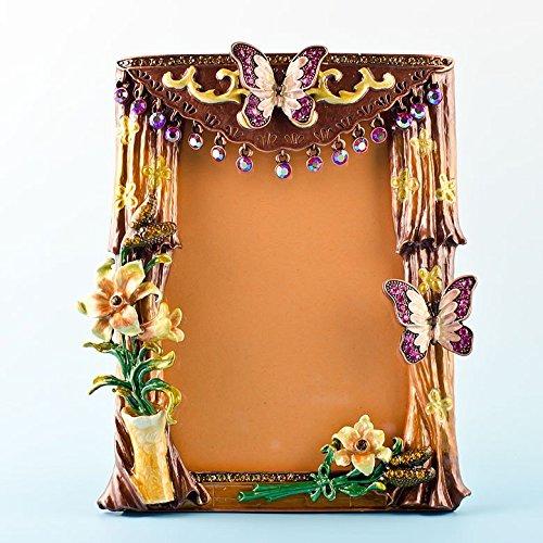 14x 11,4cm Tende con farfalla e fiori in stile antico russo Faberge cornice