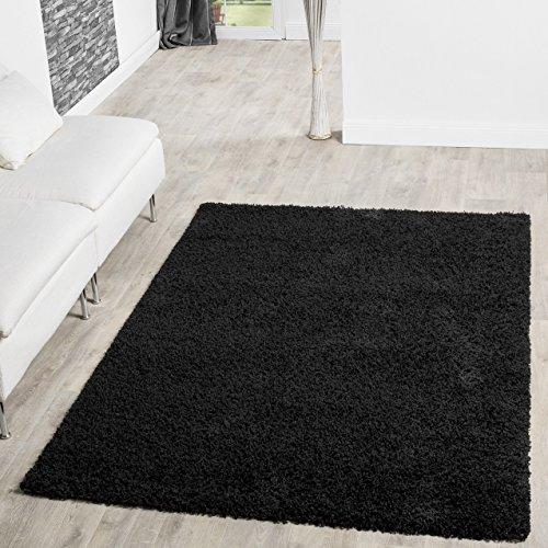 Tappeto a pelo lungo Shaggy tappeti salotto prezzo martello tenendo. Colori, Black, 70 x 140 cm