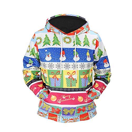 3D Printed Christmas Pullover, ◆Elecenty◆ Hooded Sweatshirt Long Ärmel Tops Blouse Outwear Langarmpullover Sportbekleidung -
