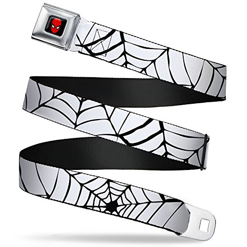 Spider-Man Marvel Comics Superhero Black Web On White Seatbelt Belt