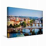 Premium Textil-Leinwand 45 cm x 30 cm quer Prag, die goldene Stadt, das Paris des Ostens - eine der schönsten Städte der Welt | Wandbild, Bild auf Hauptstadt Böhmens (CALVENDO Orte)