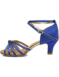 Zapatos azules de punta abierta formales infantiles i179aOc