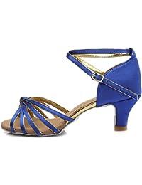 Zapatos azules de punta abierta formales infantiles