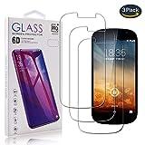 pinlu - Protector de Pantalla de Cristal Templado para Smartphone, película Curvada 3D, dureza 9H, 99% de Transparencia, Pantalla HD, fácil de Colocar