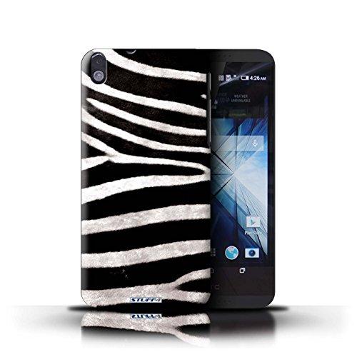 Kobalt® Imprimé Etui / Coque pour HTC Desire 816 / Vache/Noir conception / Série Motif Fourrure Animale Zèbre