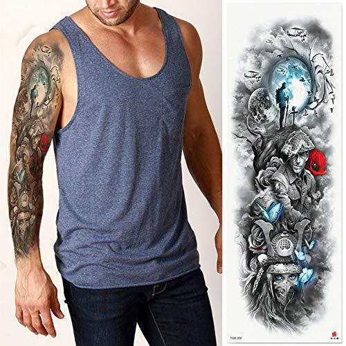 Manicotto del tatuaggio con trasferimento temporaneo di tatuaggi per tatuaggi a corpo intero, confezione da 4,17×48cm
